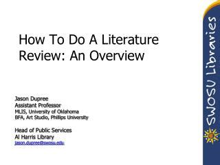 Why literature review important